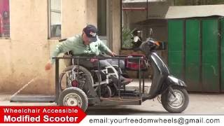 Wheelchair Accessible Modified Scooter By Freedom Wheels Enterprises