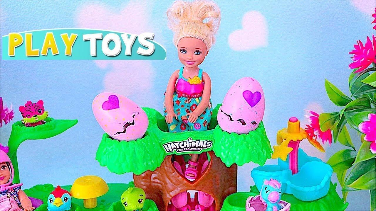Download Barbie Doll Chelsea Chơi với HATCHIMALS Egg Toy Bất ngờ! 🎀