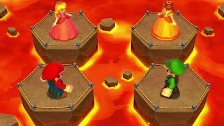 Mario Party Island Tour MiniGames - Mario Vs Luigi Vs Peach Vs Daisy (Master CPU)