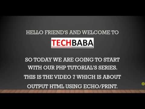 Output HTML Using Echo