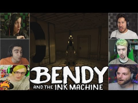 Gamers Reactions to Boris Alive (Part 1) Ending | Bendy and The Ink Machine - Chapter 2