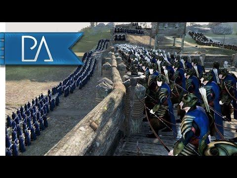 Galadhrim Elves At War: Dwarves Attack! - Total War: Rise of Mordor Mod Gameplay