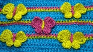 Узор крючком с бабочками Crochet butterfly 82