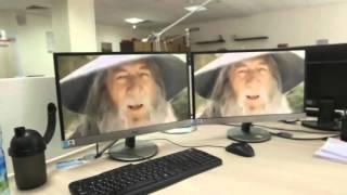 Когда один в офисе