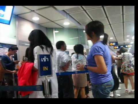 Bangkok BTS and MRT Trains Skytrain Subway Underground System Asoke Sukhumvit Thailand