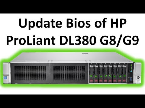 Update Bios firmware of HP ProLiant DL380 G8/G9 Servers from