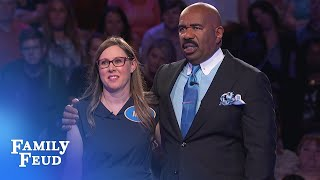 Can she do it? Anna needs 52 points for $20,000! | Family Feud