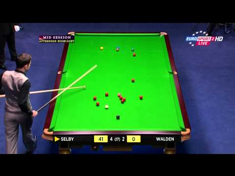 Snooker 100th 147 break. Mark Selby at UK Championship 2013. Speak: Henrik Kaj Hansen - Eurosport