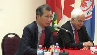 20151013, Michael Chan, John McCallum, media conference