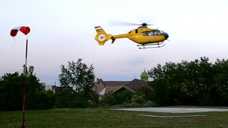 Eurocopter EC-135 landing training to Szent János Hospital, Budapest