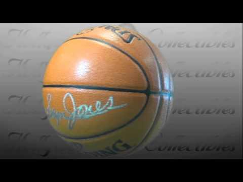 Sam Jones - Boston Celtics - Autographed Basketball Signed in Silver Paint Pen