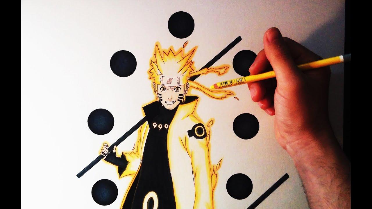 Cómo Dibujar A Naruto En Modo Sabio De Los 6 Caminos How To Draw Naruto Six Paths Artemaster