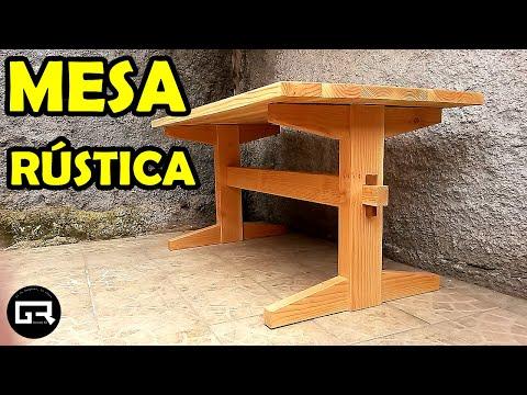 MESA DE MADERA RUSTICA COMO HACER [WOODEN TABLE]