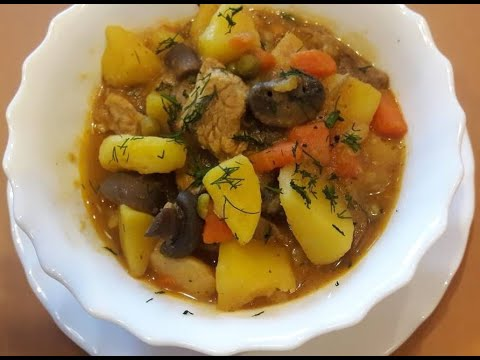 Вкуснейшее жаркое с грибами, мясом, картошкой | Кулинарный ...