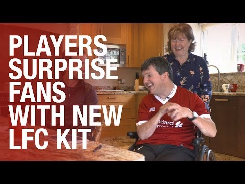 Liverpool FC players surprise fans with new home kit delivery | Pure Liverpool FC