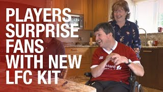 Liverpool FC players surprise fans with new home kit delivery