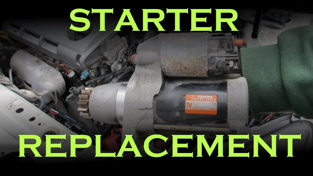 Starter Replacement: Toyota / Lexus - YouTube