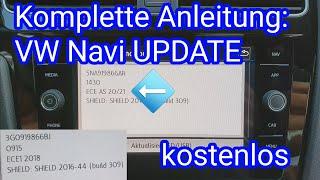 Anleitung: VW Navi Update 2020/21 (kostenlos) in deutsch  Discover Media für Composition Media