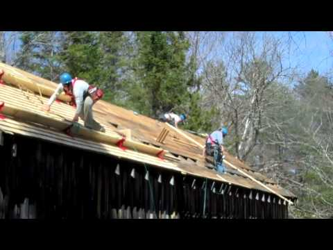 Leonards Mills Covered Bridge Roof Project Um Construction Management Technology