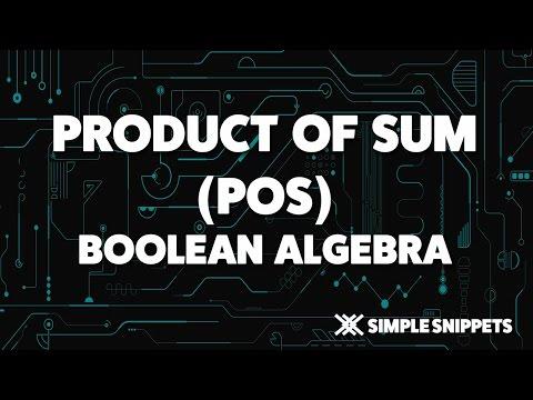 Product Of Sums - POS | Boolean Algebra & Logic Gates
