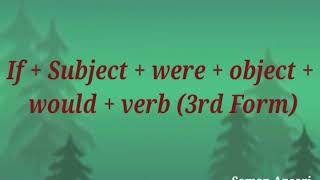 If + Subject + Were + Object + Would + Verb (3rd Form) || Learn English Structure