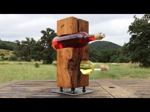 Making a Simple Upright Wine Holder