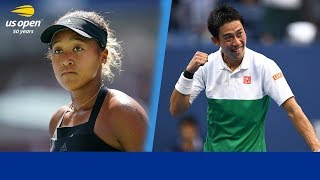 2018 US Open Memorable Moments: Naomi Osaka & Kei Nishikori