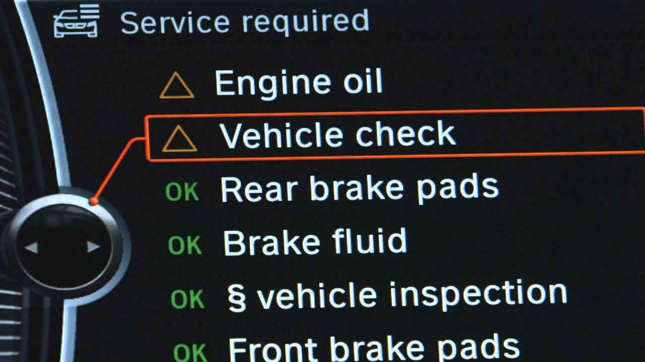 BMW 5 Series: Condition Based Service CBS