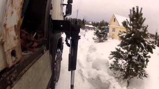 Перевозка контейнера 20ф краном-манипулятором.(Санкт-Петербург. Компания Градус. Манипулятор HMF 4720 на шасси Scania P380. http://www.9474444.com., 2013-08-18T15:44:48.000Z)