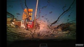 千葉県旭市 走行中の車を襲った津波【視聴者提供映像】 thumbnail