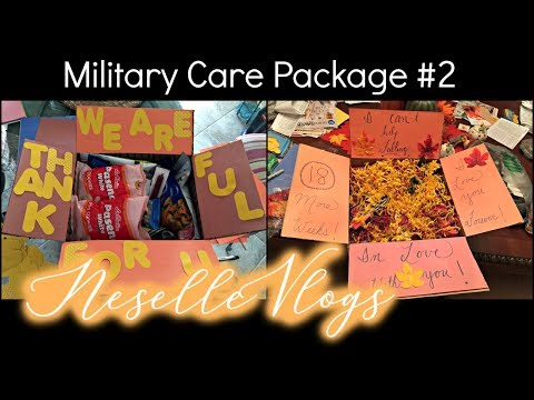NeselleVlogs: My 2nd Military Care Package for Hubs! - Thanksgiving Edition