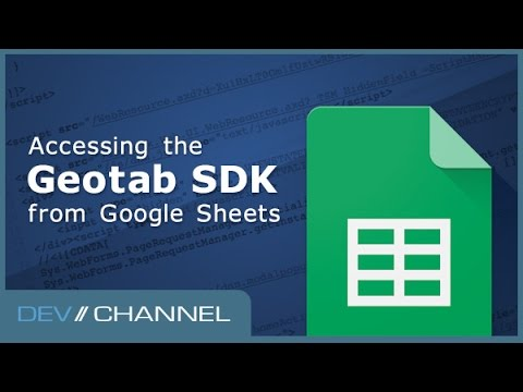 Accessing the SDK from Google Sheets