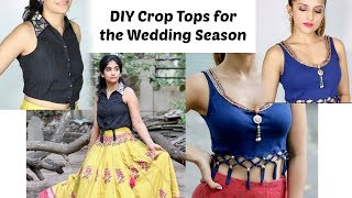 Make Crop Tops for Pairing With Lehengas/Palazzos this Wedding Season (ft. Knot me Pretty)