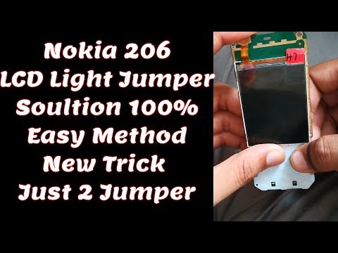 Nokia 206 Display Light Solution LCD Jumper Problem Solve 100% New Method