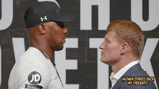 ANTHONY JOSHUA VS ALEXANDER POVETKIN - FACE OFF & UK PRESS CONFERENCE!!! (REACTION)