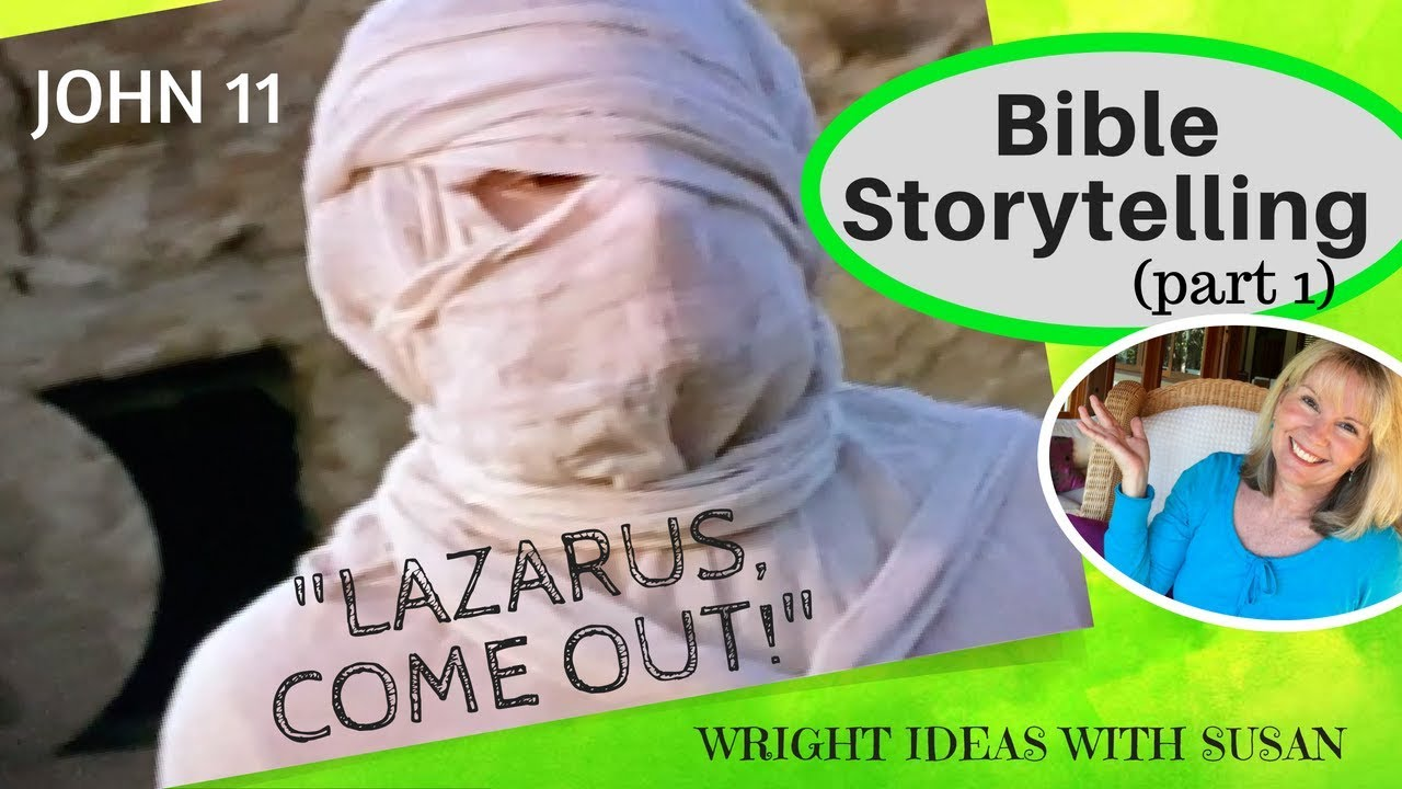 bible storytelling jesus brings lazarus back to life john 11 pt