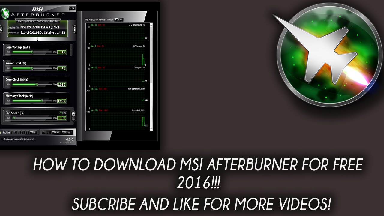 How To: Download MSI AFTERBURNER For Free! - YouTube