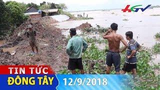 Đê bao sụp xuống sông Tiền | TIN TỨC ĐÔNG TÂY - 12/9/2018
