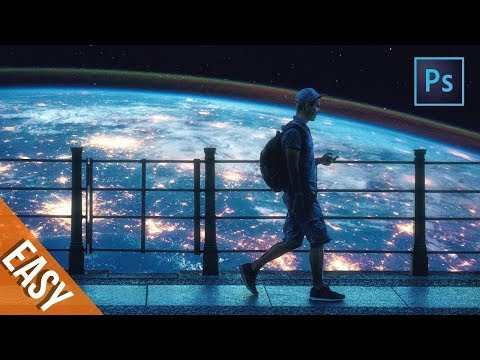 Earth Surreal Photo Manipulation /Photoshop Tutorial thumbnail