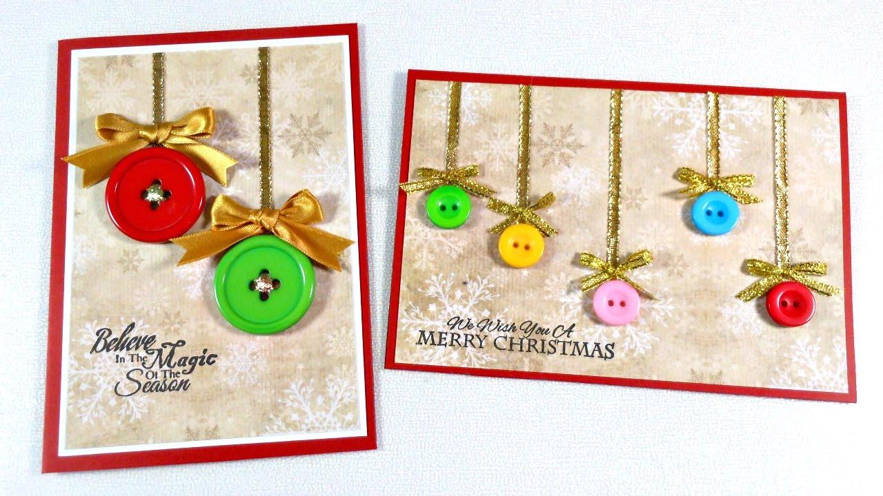Tarjeta navide a utilizando botones cardmaking mundo - Targetas de navidad originales ...