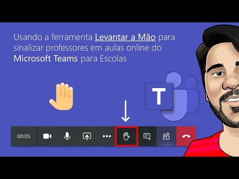 Usando a ferramenta Levantar a Mão para sinalizar professores em aulas online do Microsoft Teams Edu