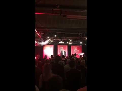 Jeremy Corbyn speaks to SLab supporters in Glasgow