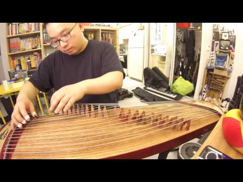 Self Taught Guzheng - Playing 4 and 7 Notes, Some Fun Tips!