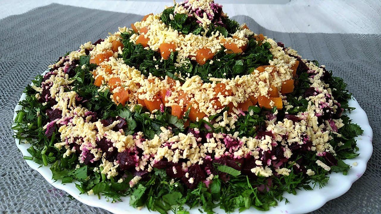Yeni Salat Resepti Yeni Ilə Aid Dadli Salatin Hazirlanmasi Salat Na Novyj God Youtube