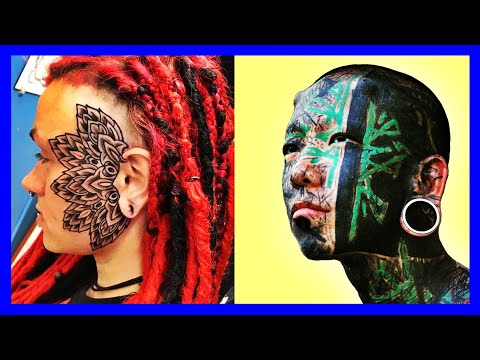 52baf1632c06d BEST FACE TATTOOS GIRL 2018 | CRAZY FACE TATTOOS WOMEN BEAUTIFUL FACE  TATTOOS FOR MEN | COOL FACE TA