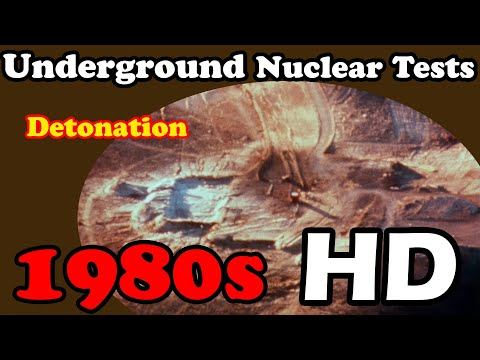 HD footage of underground nuclear tests 1980s