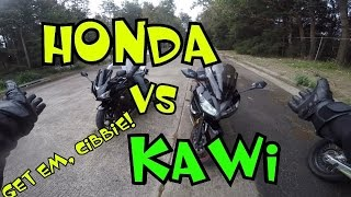Honda CBR500R vs Kawasaki Ninja 650R - LAMS to the Slaughter