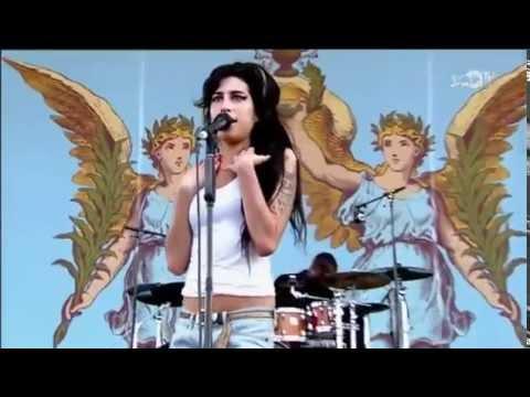 Amy Winehouse singing Rehab & Back To Black (live)