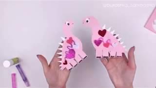 Динозаврики из бумаги своими руками