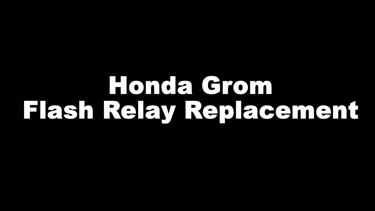 Flasher Wiring Diagram Honda Grom Trusted Diagrams Zb50 Led Flash Relay Replacement Youtube